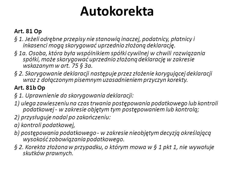 Autokorekta Art. 81 Op.