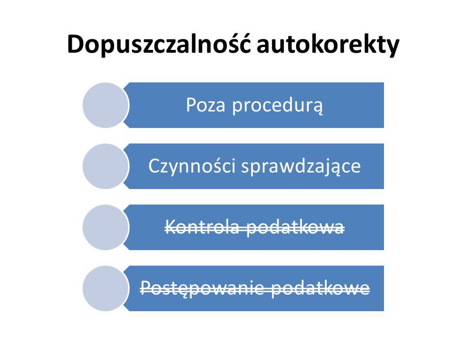 Dopuszczalność autokorekty