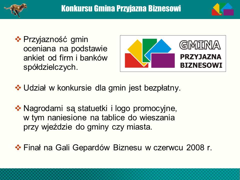 Konkursu Gmina Przyjazna Biznesowi