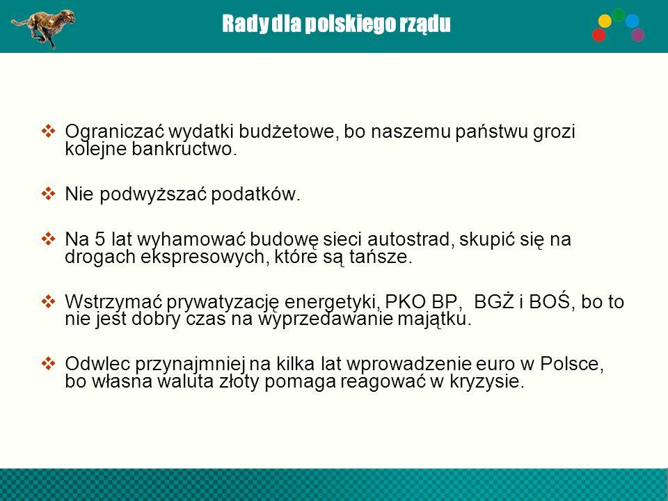 Rady dla polskiego rządu