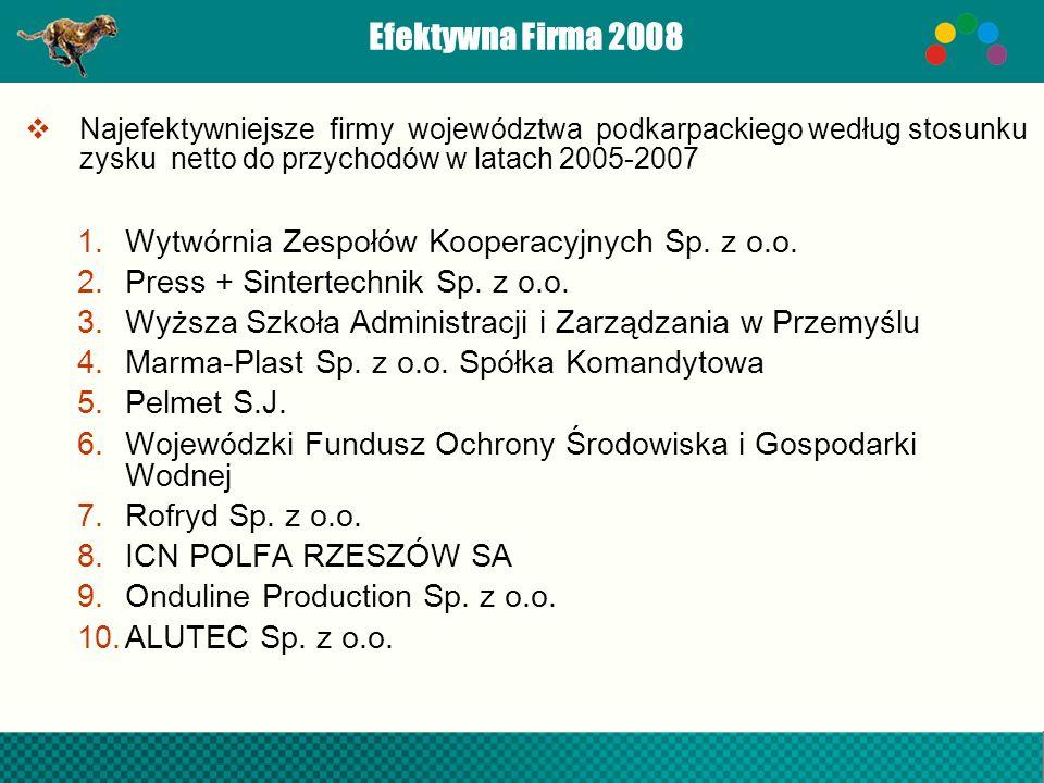 Efektywna Firma 2008 Wytwórnia Zespołów Kooperacyjnych Sp. z o.o.