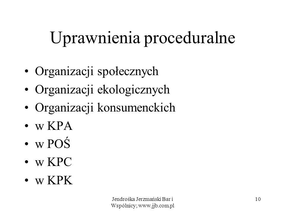 Uprawnienia proceduralne