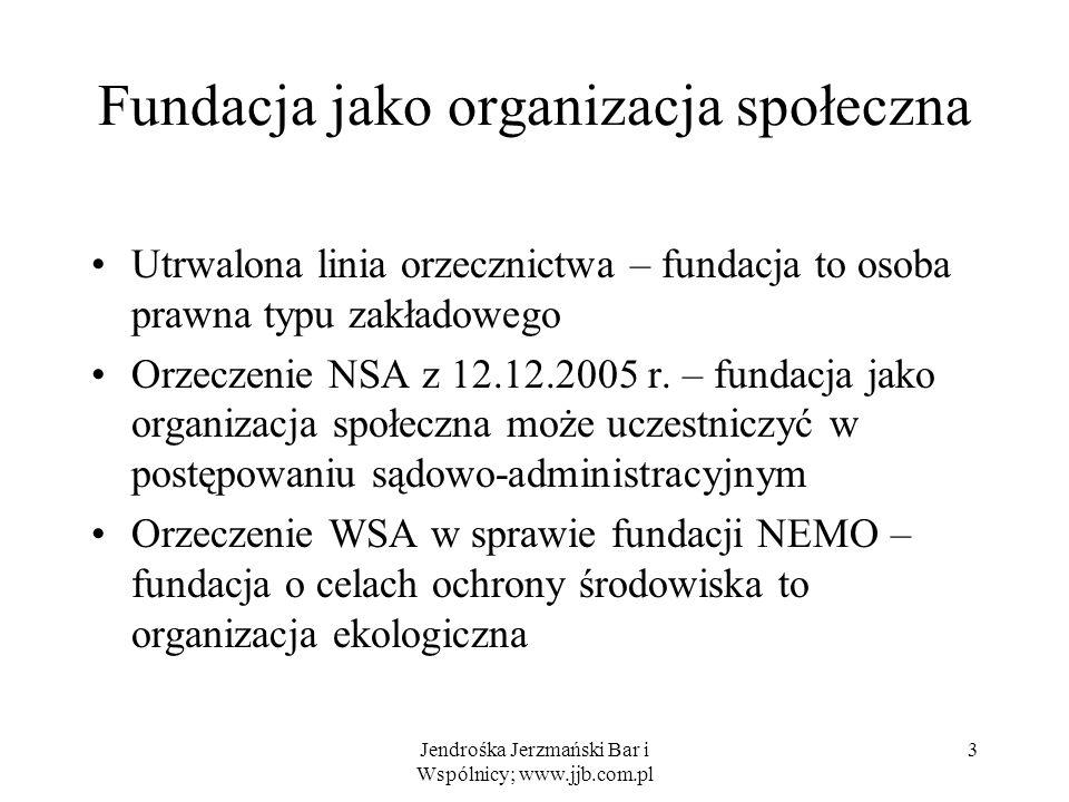 Fundacja jako organizacja społeczna