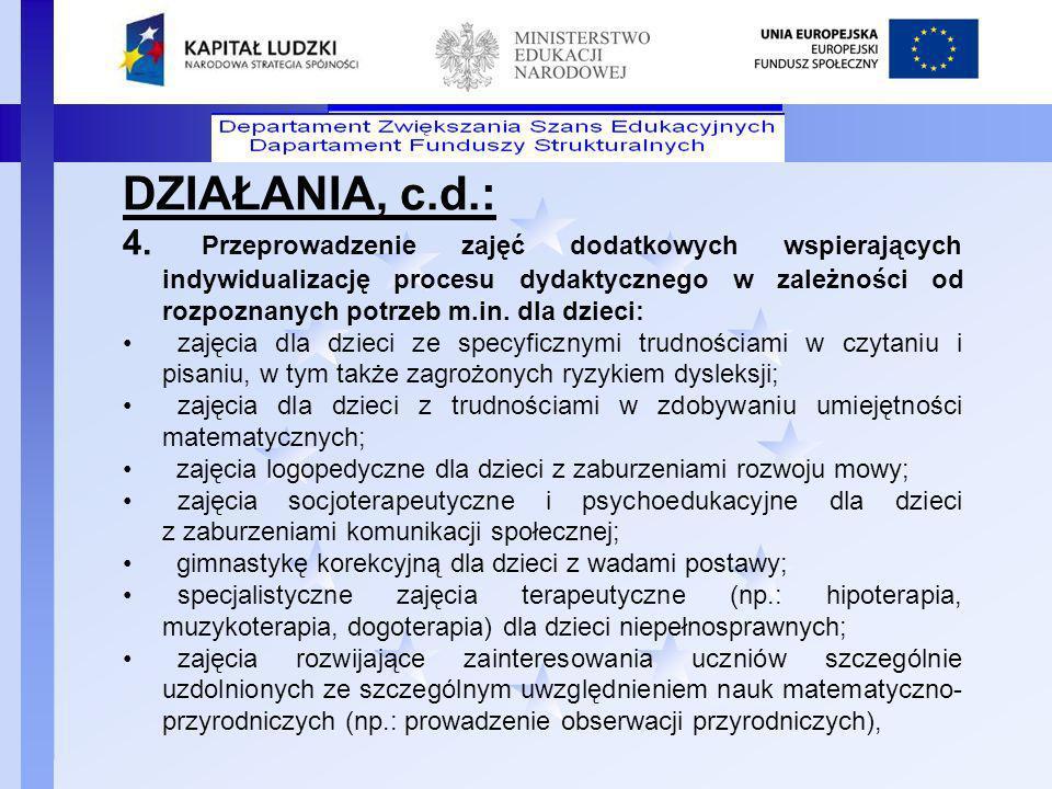 DZIAŁANIA, c.d.: