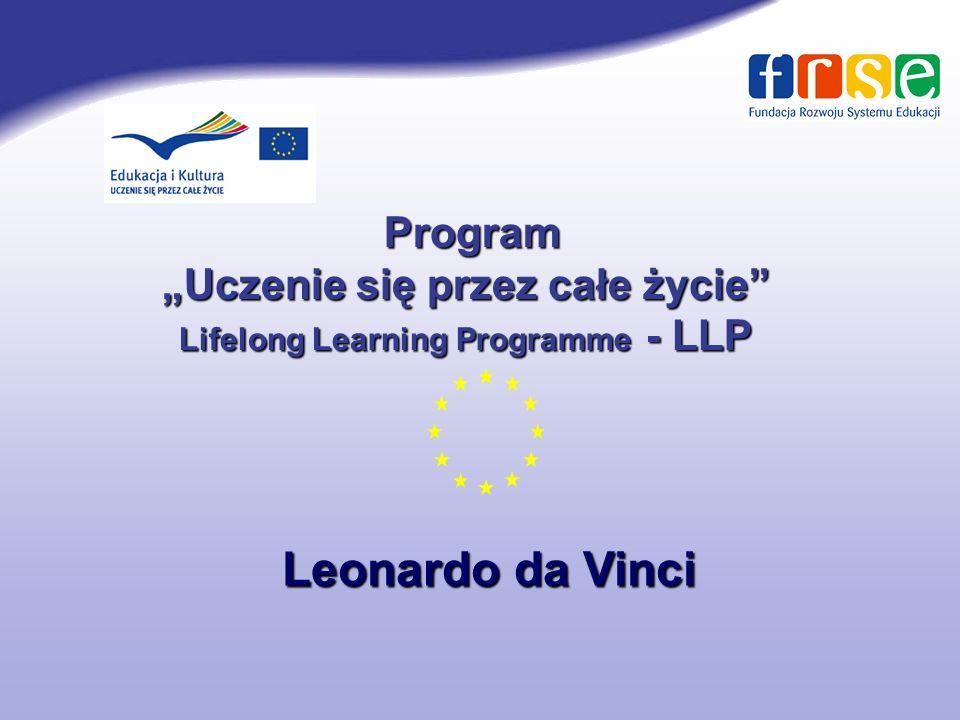 """""""Uczenie się przez całe życie Lifelong Learning Programme - LLP"""