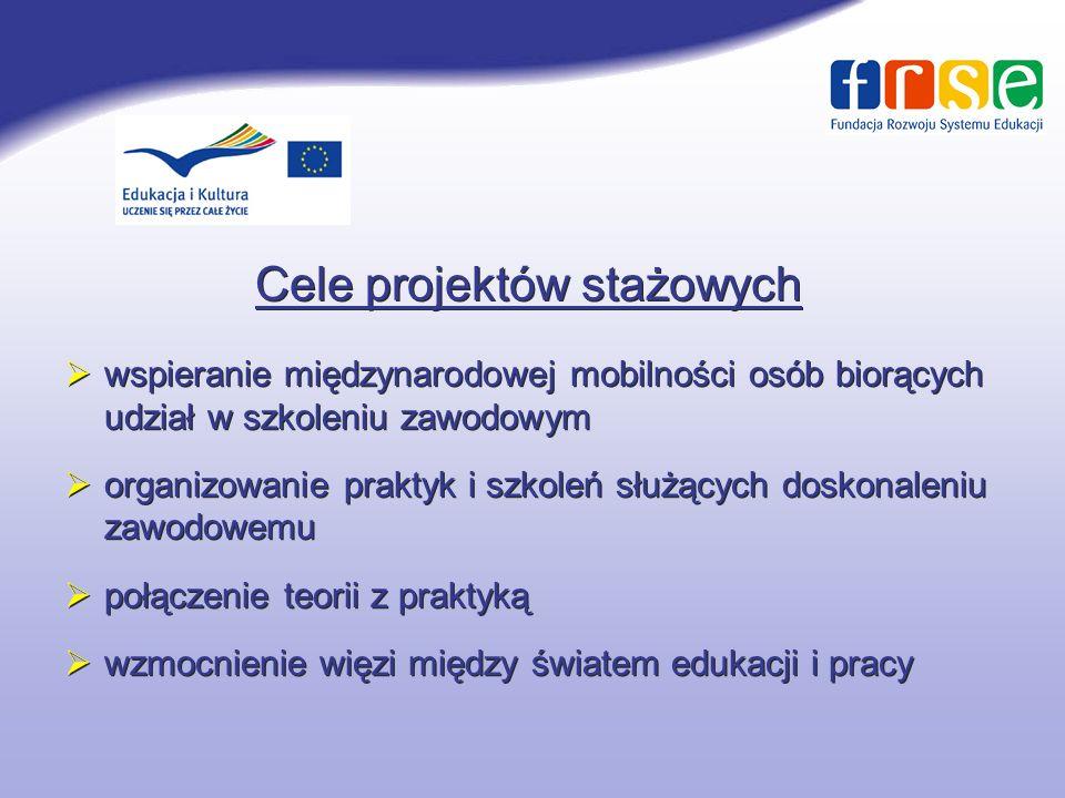 Cele projektów stażowych