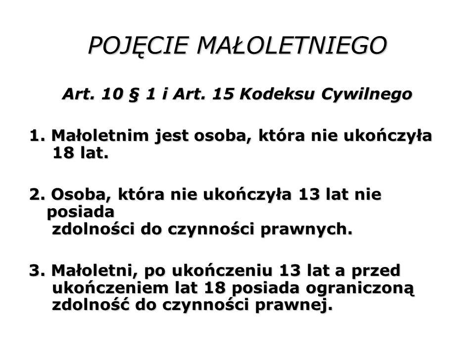 Art. 10 § 1 i Art. 15 Kodeksu Cywilnego