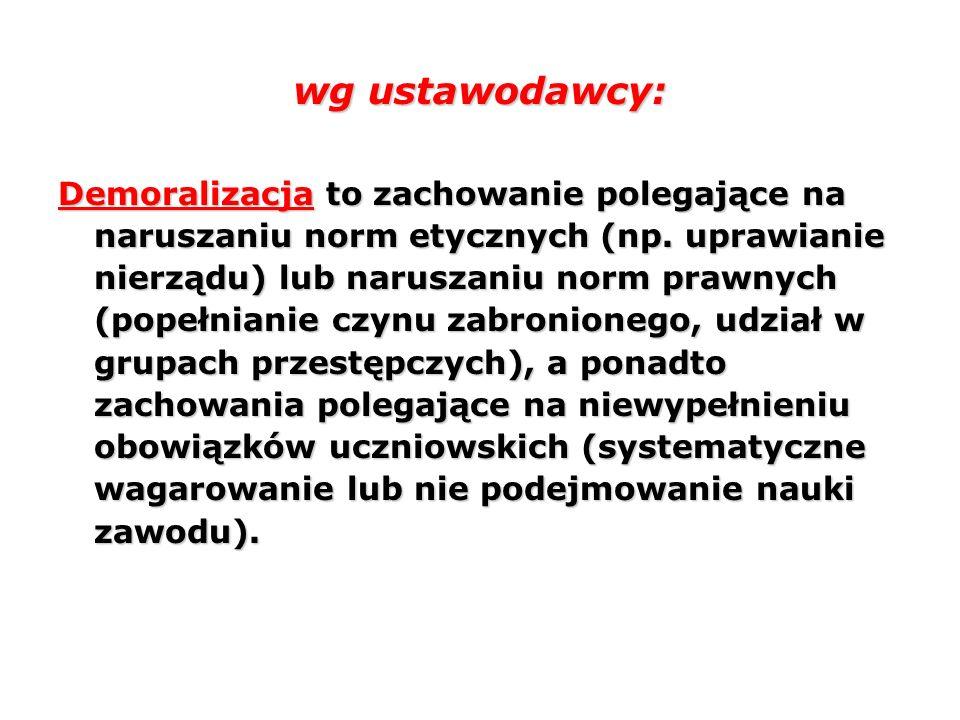 wg ustawodawcy: