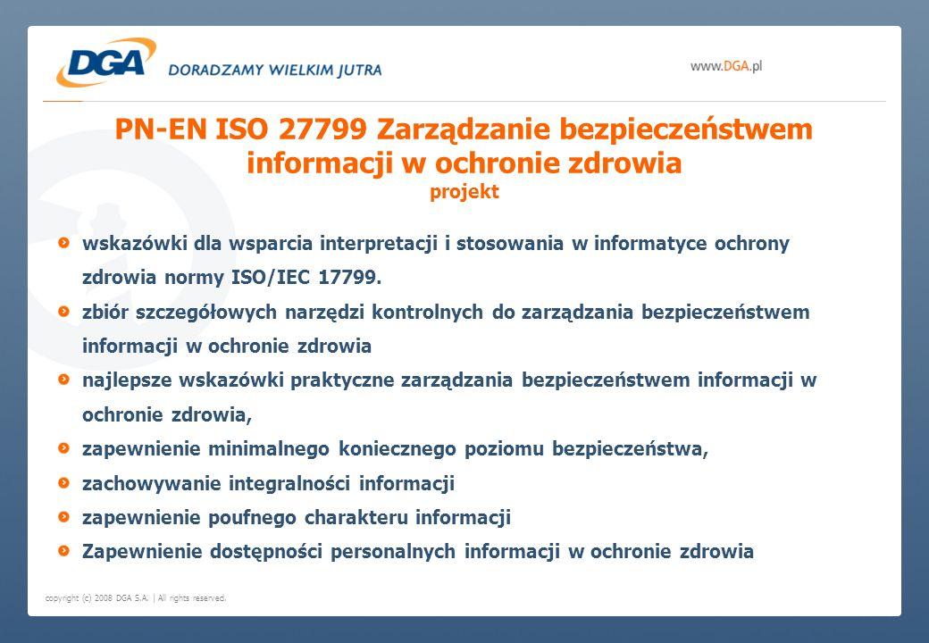 PN-EN ISO 27799 Zarządzanie bezpieczeństwem informacji w ochronie zdrowia projekt