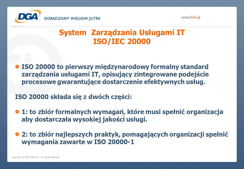 System Zarządzania Usługami IT ISO/IEC 20000