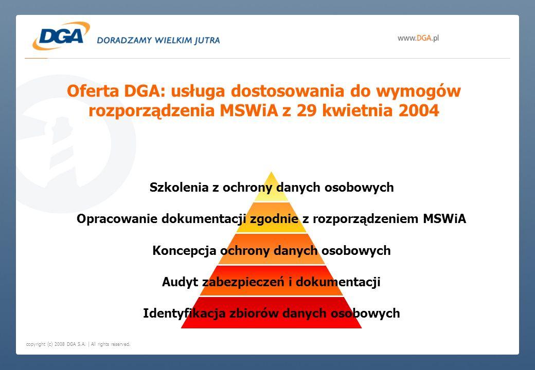 Oferta DGA: usługa dostosowania do wymogów rozporządzenia MSWiA z 29 kwietnia 2004