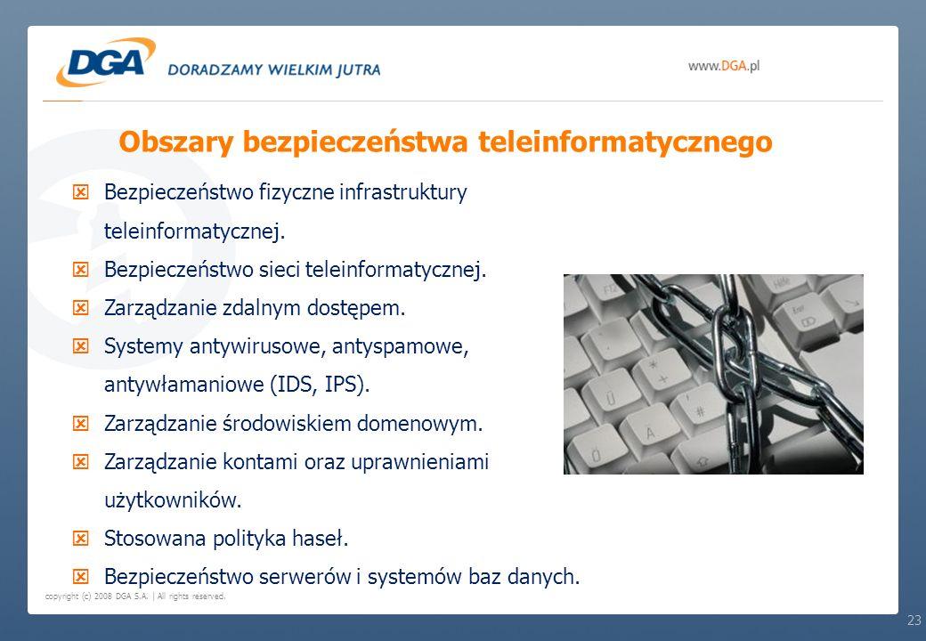 Obszary bezpieczeństwa teleinformatycznego