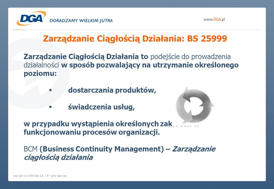 Zarządzanie Ciągłością Działania: BS 25999