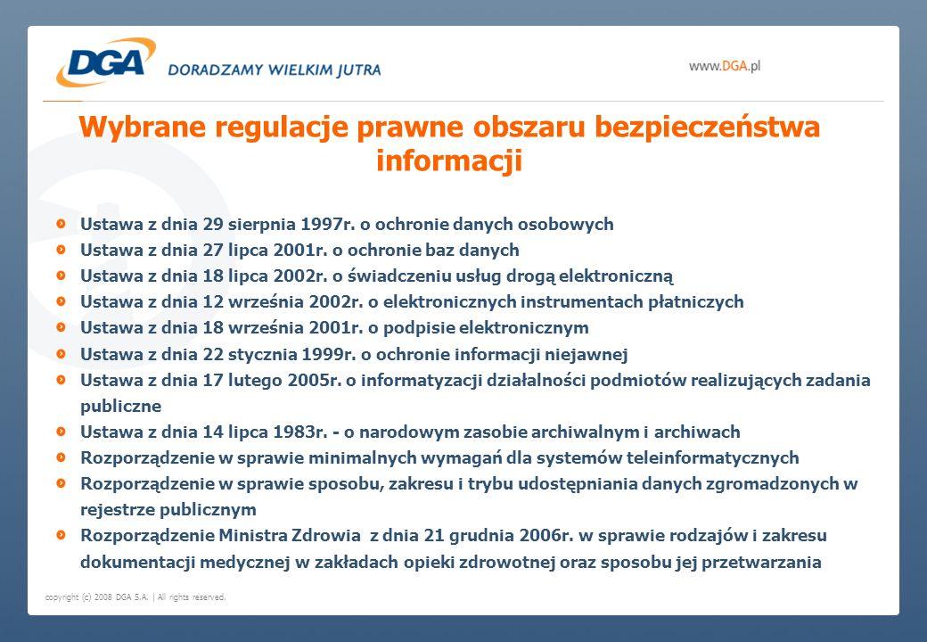 Wybrane regulacje prawne obszaru bezpieczeństwa informacji