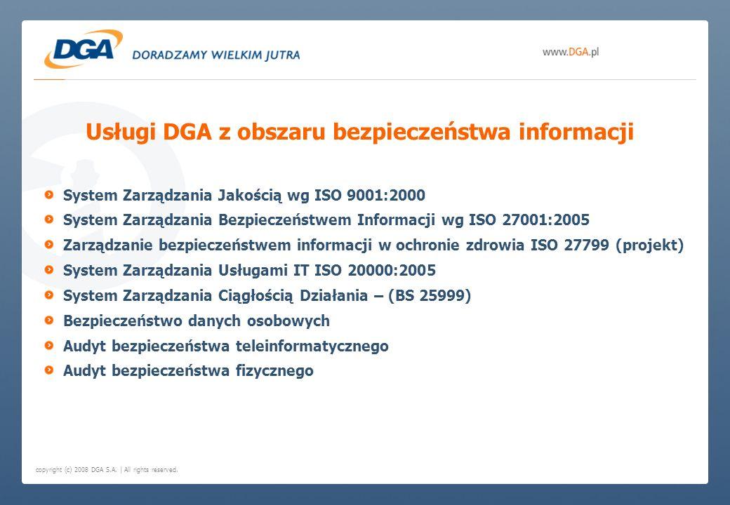 Usługi DGA z obszaru bezpieczeństwa informacji