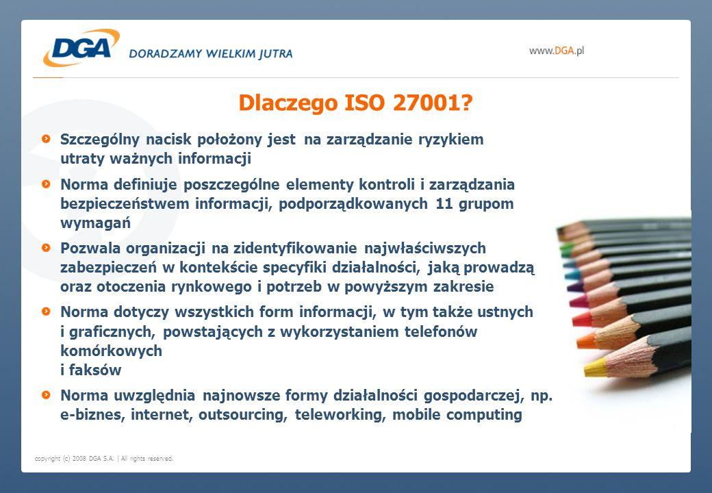 Dlaczego ISO 27001 Szczególny nacisk położony jest na zarządzanie ryzykiem utraty ważnych informacji.