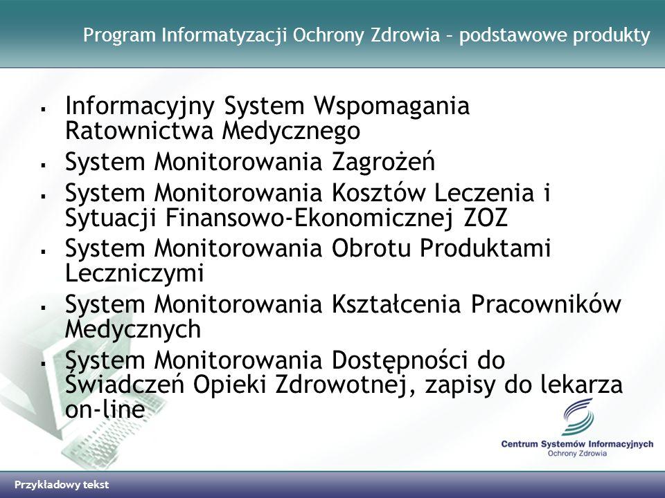 Program Informatyzacji Ochrony Zdrowia – podstawowe produkty