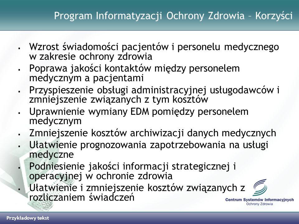 Program Informatyzacji Ochrony Zdrowia – Korzyści