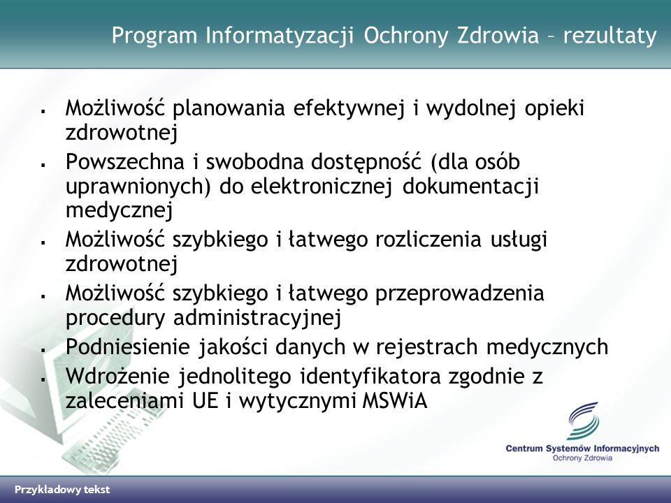 Program Informatyzacji Ochrony Zdrowia – rezultaty