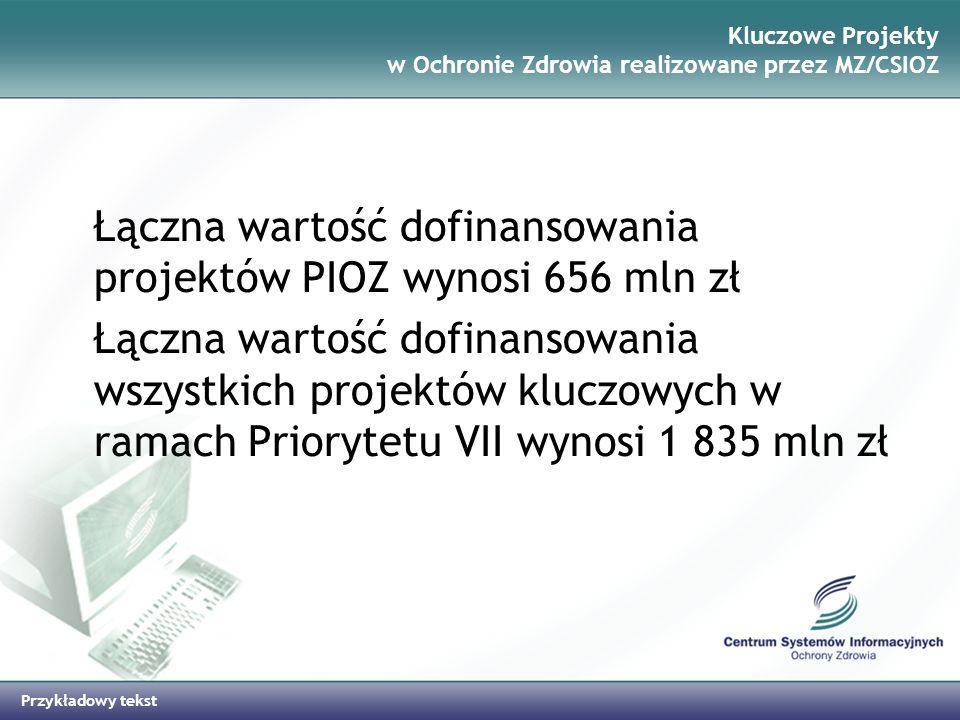 Kluczowe Projekty w Ochronie Zdrowia realizowane przez MZ/CSIOZ