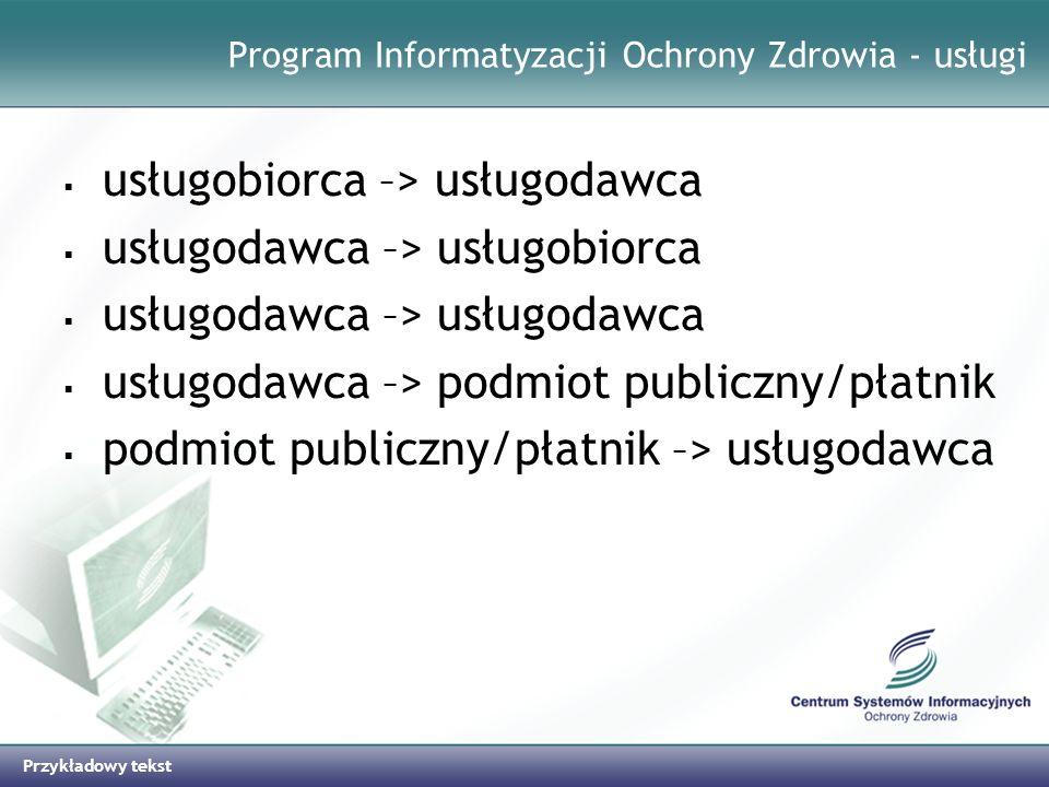 Program Informatyzacji Ochrony Zdrowia - usługi