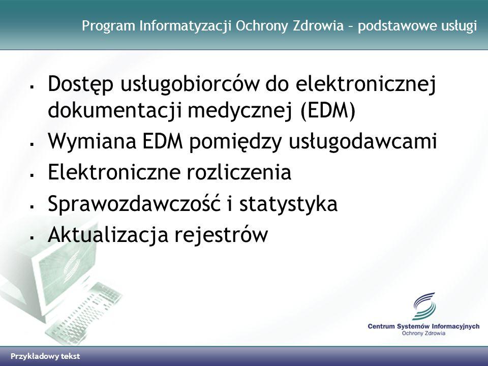 Program Informatyzacji Ochrony Zdrowia – podstawowe usługi