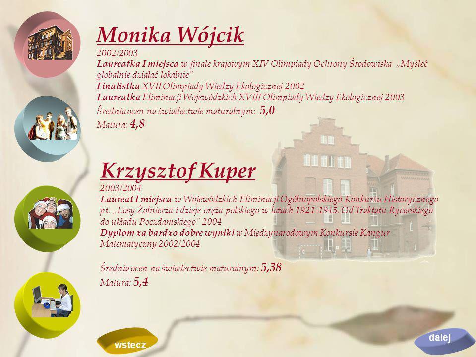 Monika Wójcik Krzysztof Kuper 2002/2003