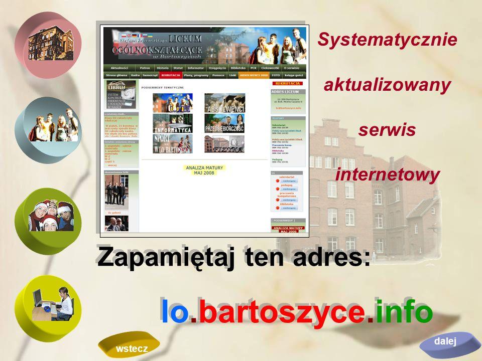 Systematycznie aktualizowany serwis internetowy