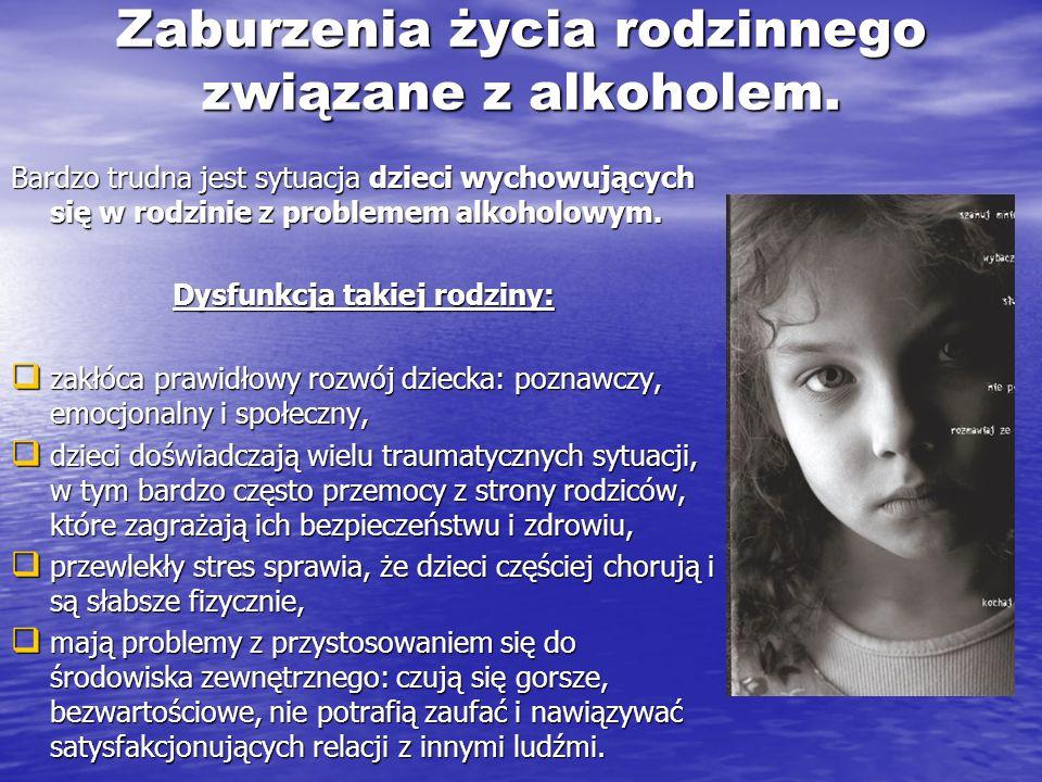 Zaburzenia życia rodzinnego związane z alkoholem.