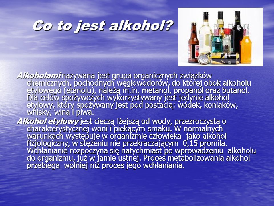 Co to jest alkohol
