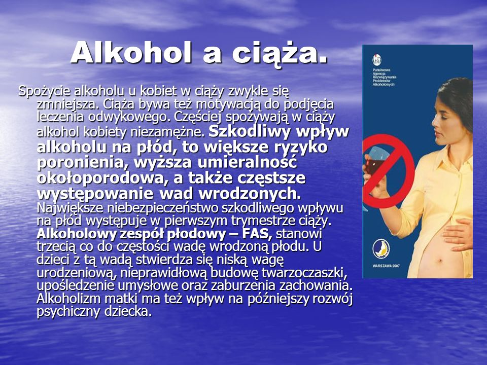 Alkohol a ciąża.