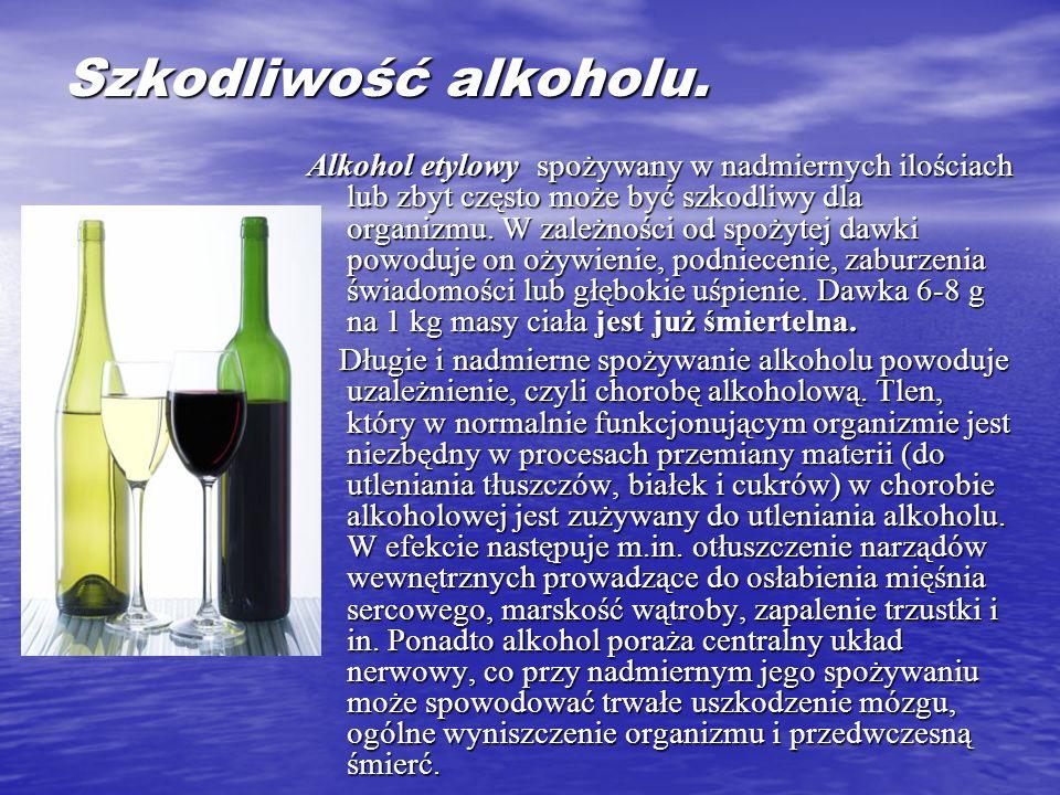 Szkodliwość alkoholu.