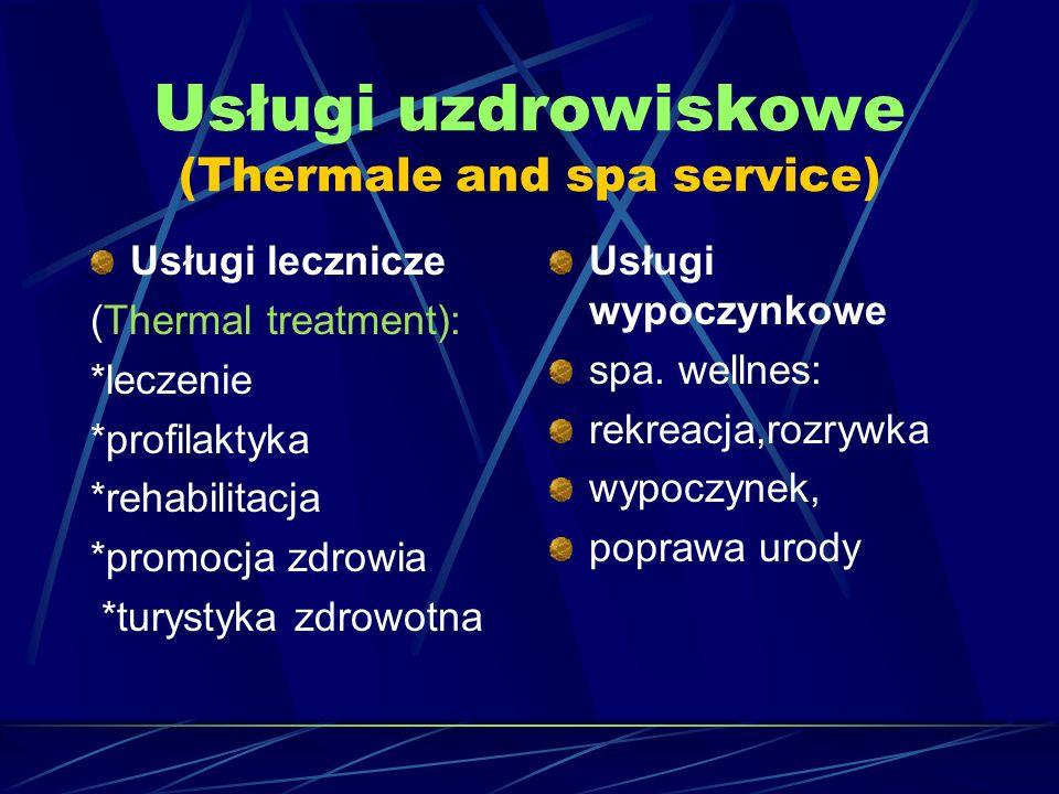 Usługi uzdrowiskowe (Thermale and spa service)
