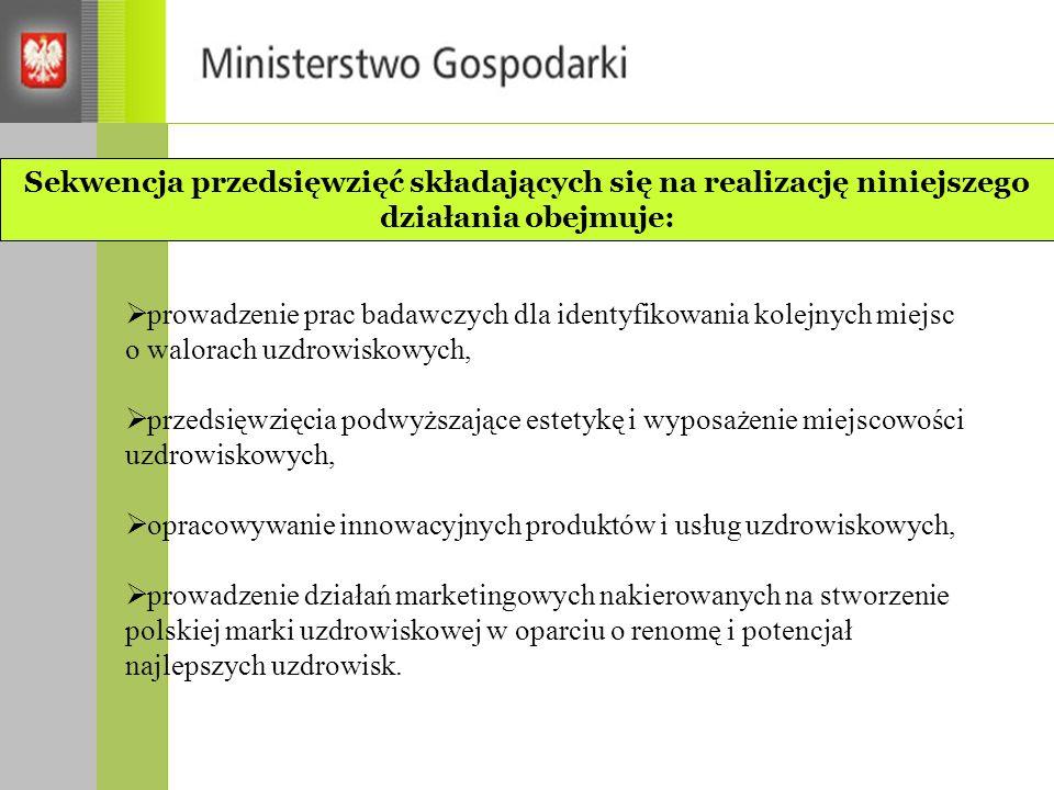 Sekwencja przedsięwzięć składających się na realizację niniejszego działania obejmuje: