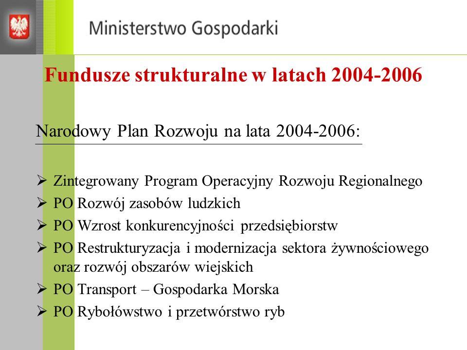 Fundusze strukturalne w latach 2004-2006