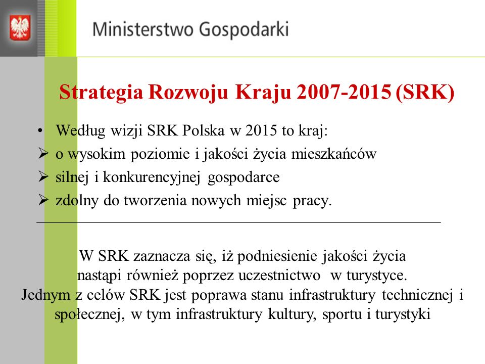 Strategia Rozwoju Kraju 2007-2015 (SRK)