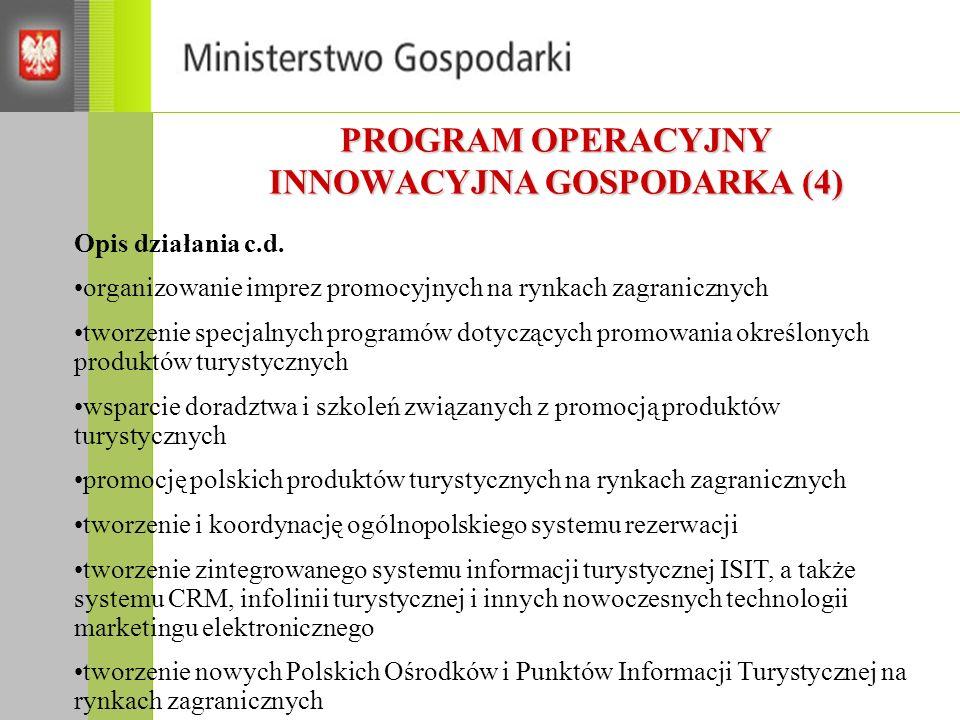 PROGRAM OPERACYJNY INNOWACYJNA GOSPODARKA (4)
