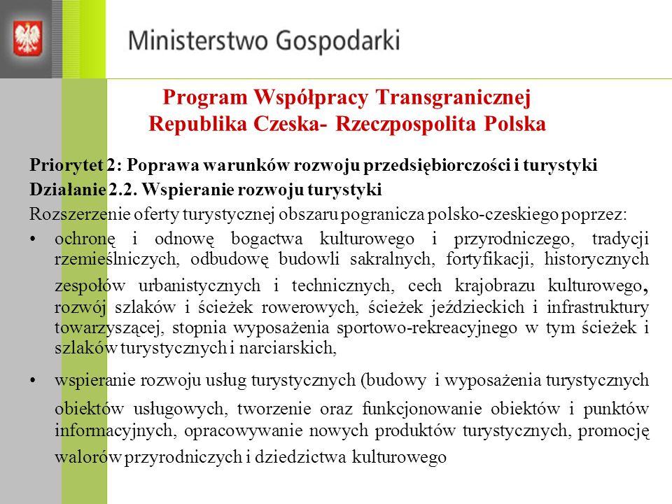Program Współpracy Transgranicznej Republika Czeska- Rzeczpospolita Polska