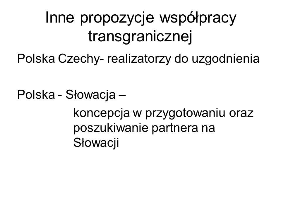 Inne propozycje współpracy transgranicznej