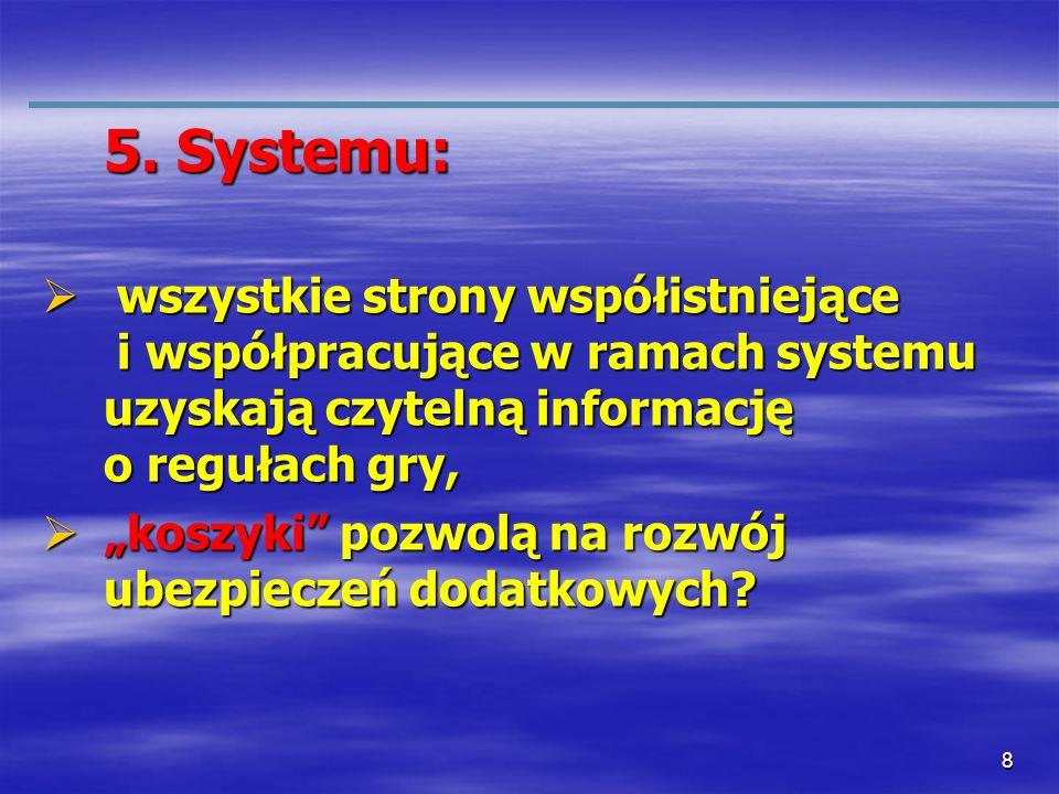 5. Systemu: wszystkie strony współistniejące i współpracujące w ramach systemu uzyskają czytelną informację o regułach gry,