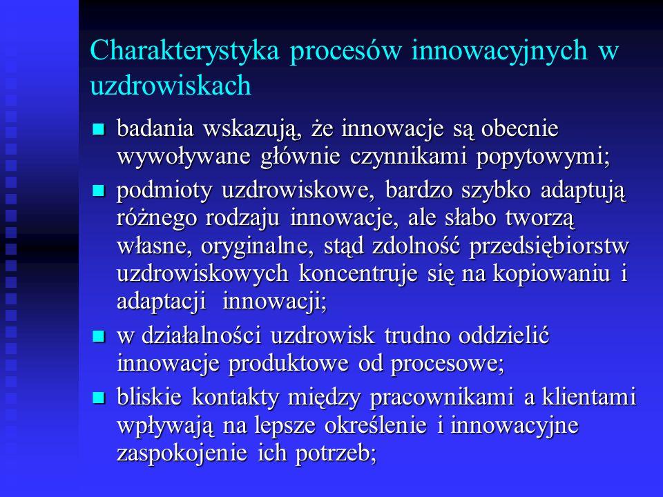 Charakterystyka procesów innowacyjnych w uzdrowiskach
