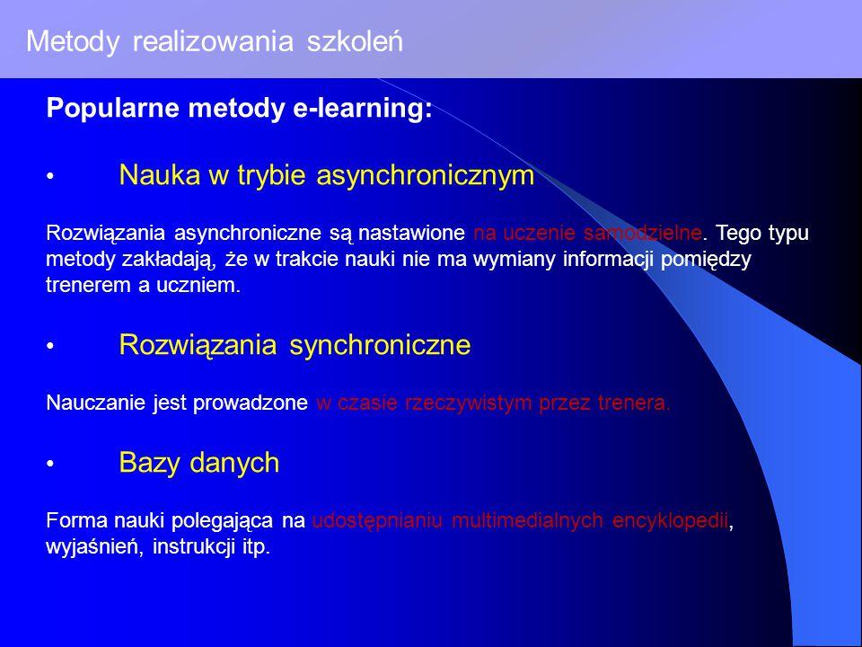 Metody realizowania szkoleń