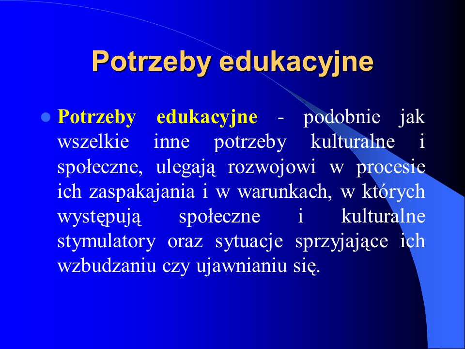 Potrzeby edukacyjne