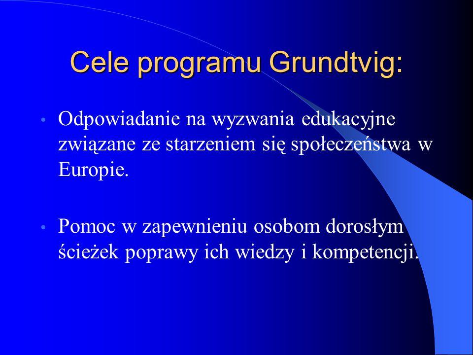 Cele programu Grundtvig: