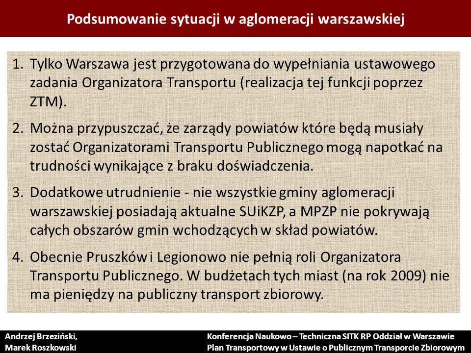 Podsumowanie sytuacji w aglomeracji warszawskiej