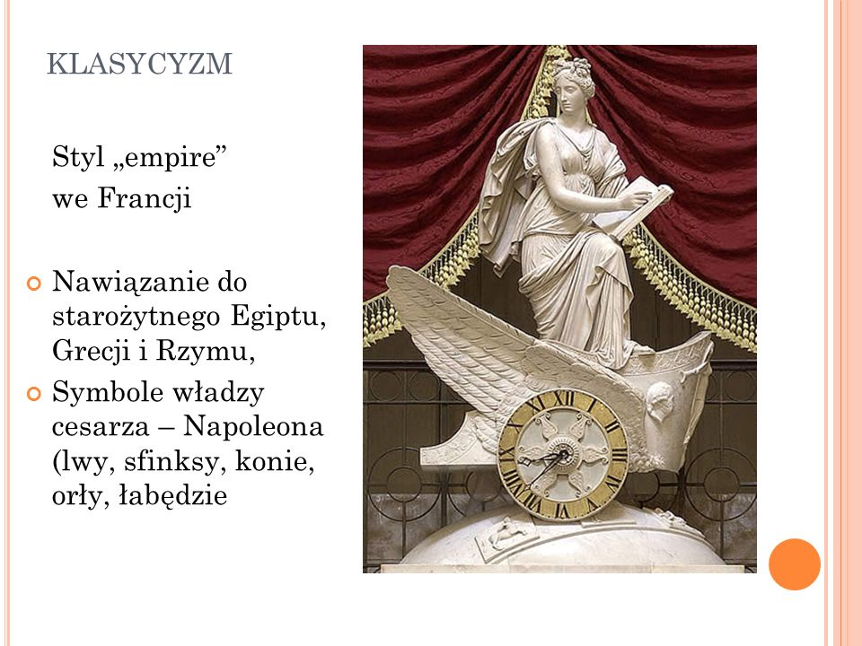 "klasycyzm Styl ""empire we Francji"
