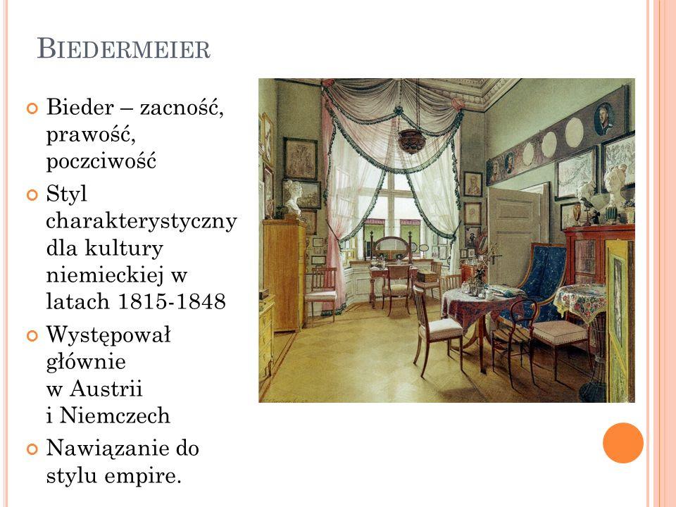 Biedermeier Bieder – zacność, prawość, poczciwość