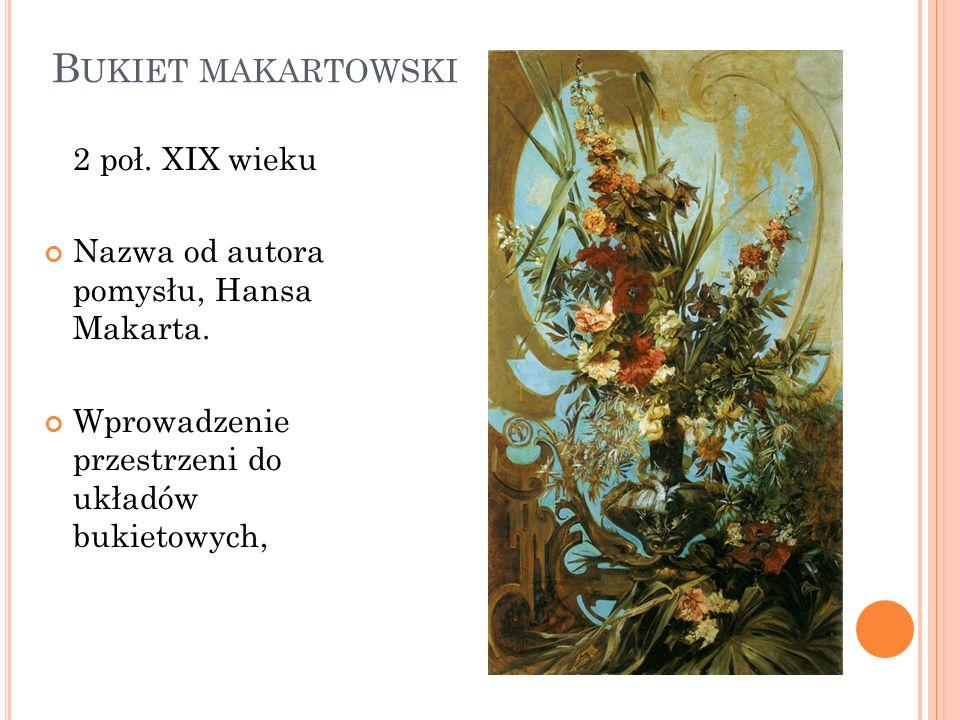 Bukiet makartowski 2 poł. XIX wieku