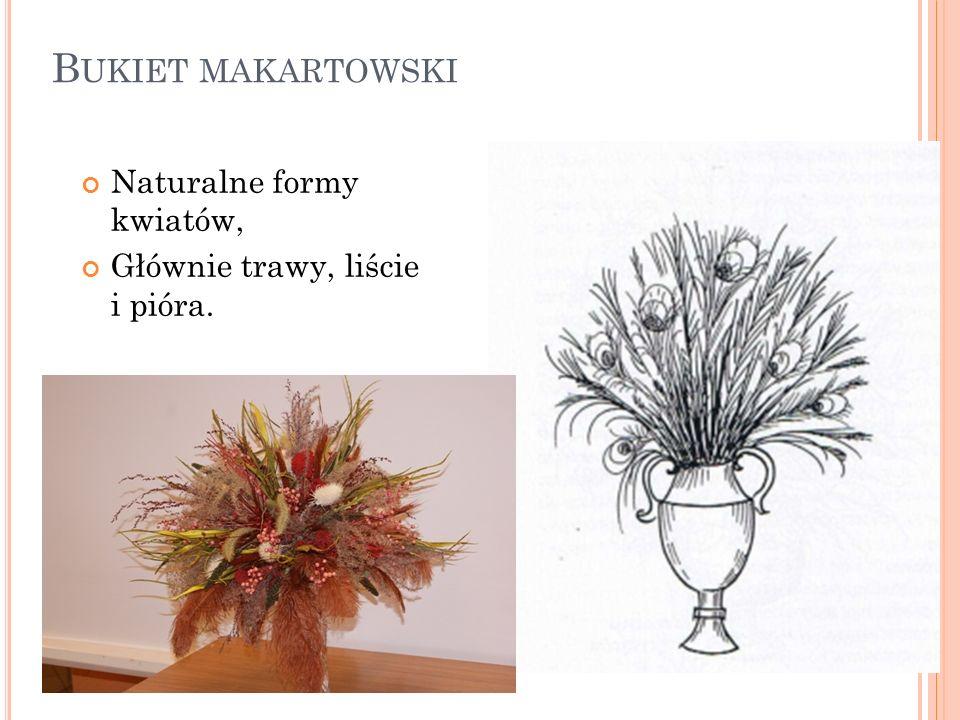 Bukiet makartowski Naturalne formy kwiatów,