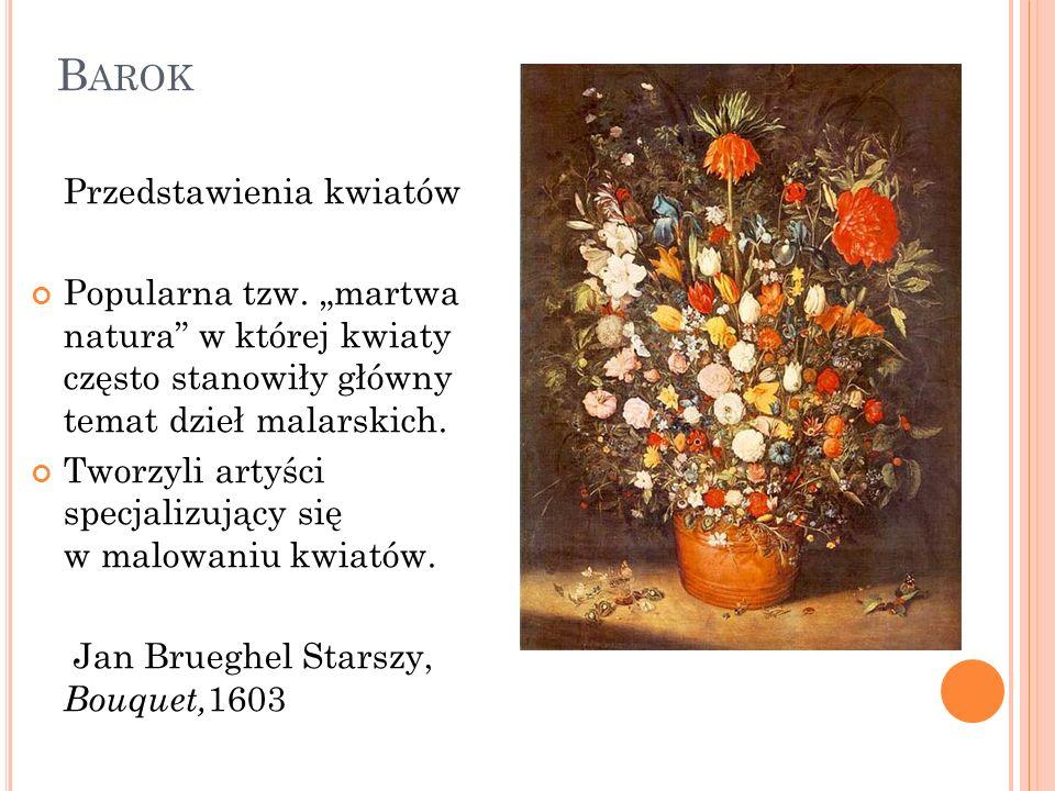 Barok Przedstawienia kwiatów